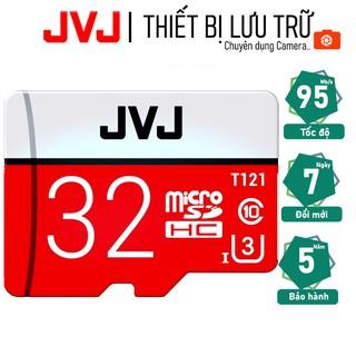 Thẻ nhớ 32Gb JVJ Pro U3 Class 10–chuyên dụng cho CAMERA, Điện thoại, Máy ảnh,… tốc độ cao 95Mb-140Mb/s