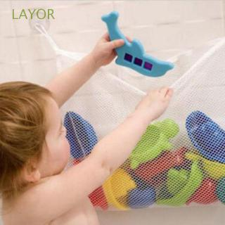 LAYOR Shower Baskets Bathroom White Kids Bath Tub Toy Bag