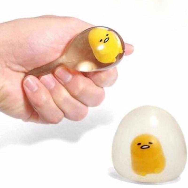 Đồ chơi squishy hình quả trứng lười biếng vui nhộn giúp giảm căng thẳng