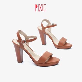 Giày Sandal Cao Gót Đúp 9cm Hở Gót Pixie X591