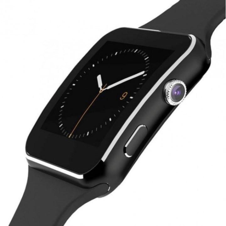 Đồng hồ SmartWatch_X6 màn hình cong màu đen