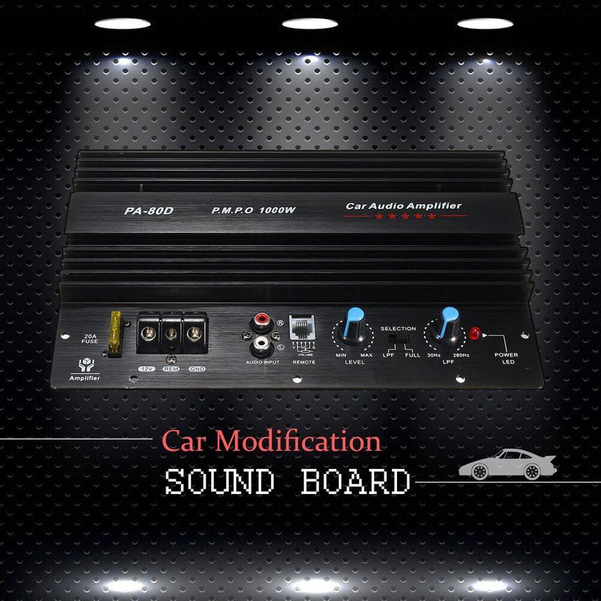 Bộ khuếch đại âm thanh siêu trầm 12V 1000W cho xe hơi