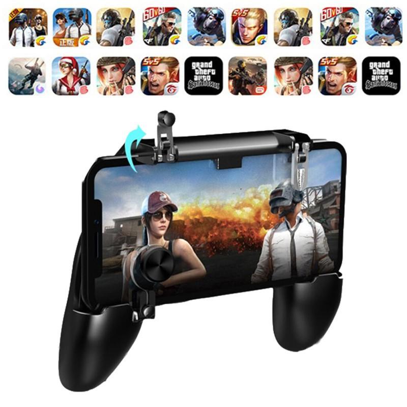 W11+ PUGB Mobile Game Controller Free Fire PUBG Mobile Joystick Gamepad Metal L1 R1 Button