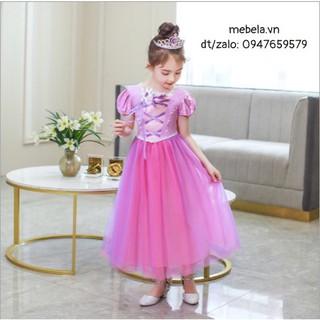🎀 Váy công chúa Tóc mây Rapunzel cho bé 14-34kg 🎀
