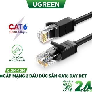 Cáp mạng Cat6 aluminum dạng dẹt/tròn UGREEN NW102