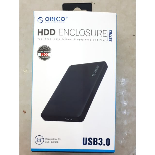 Box ổ cứng 2.5 Usb 3.0 Orico 2577u3