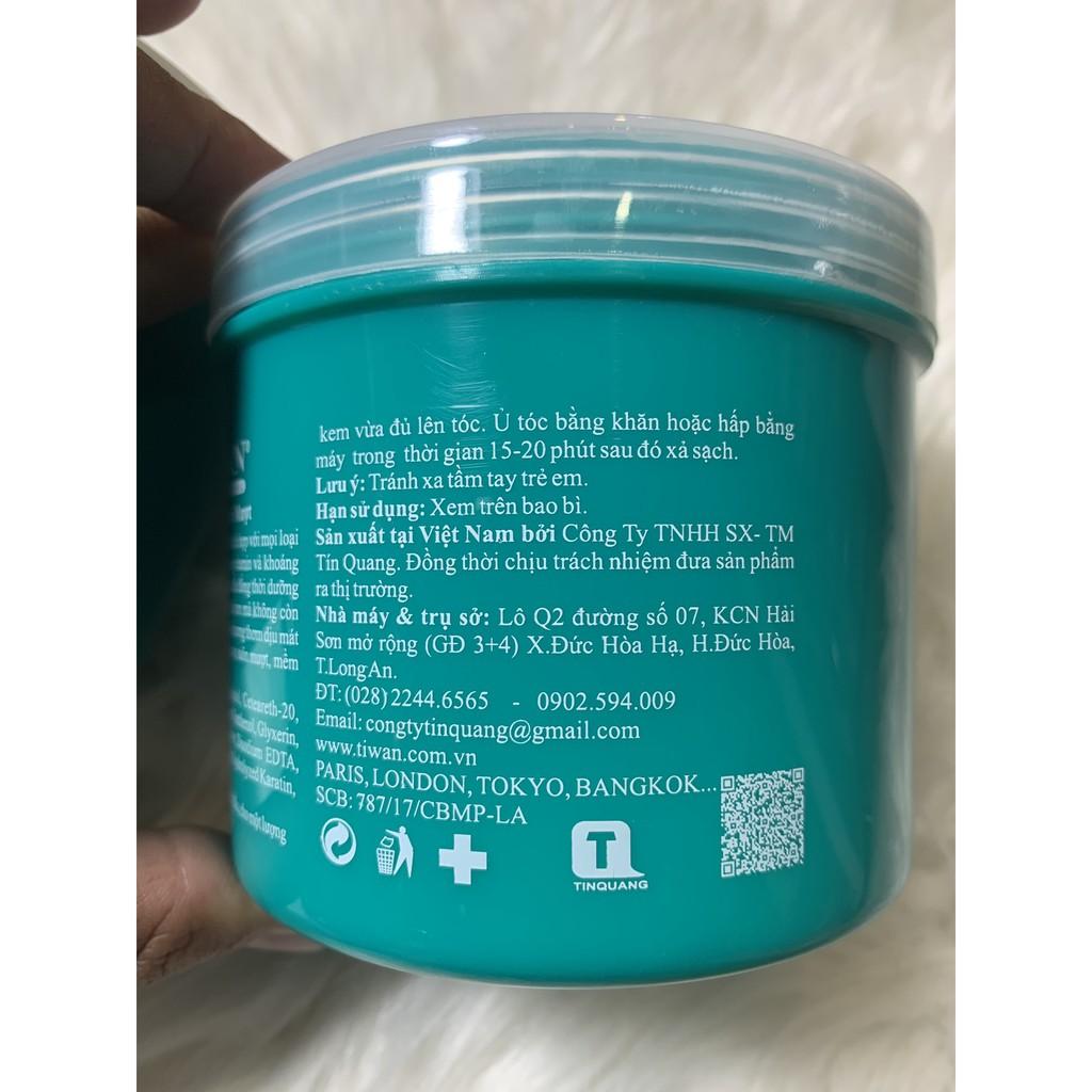 Hấp Dầu Tiwan Nutri Care Plus Collagen Xanh 500ml Siêu Bóng Mượt