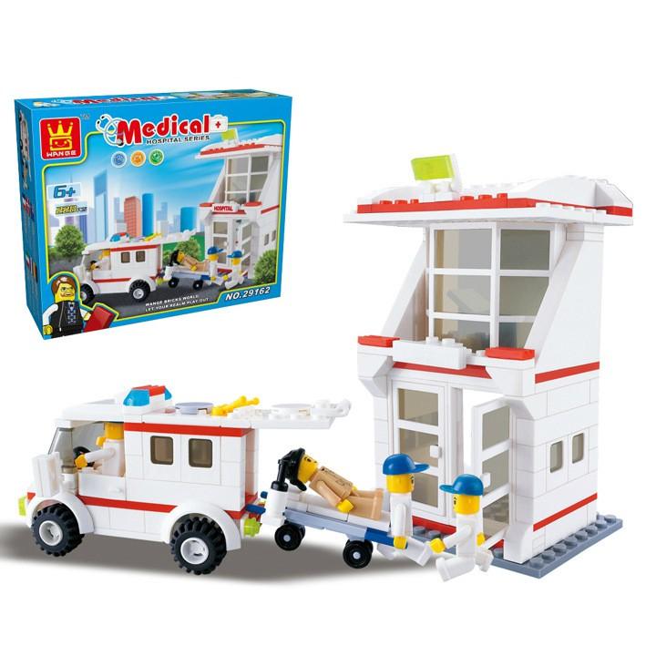 Bộ Lego Lắp Ghép Bệnh Viện - 228 Chi Tiết