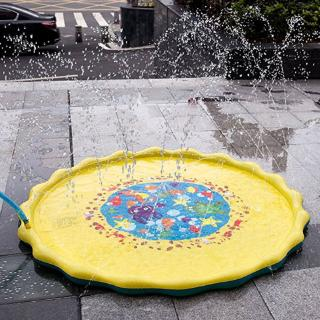 Water Sprinkler Mat Portable Inflatable Sprinkle and Play Pad Outdoor Water Toys