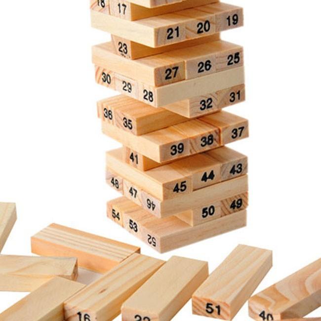 xả hàng bộ đồ chơi rút gỗ 54 thanh mini hàng còn ít