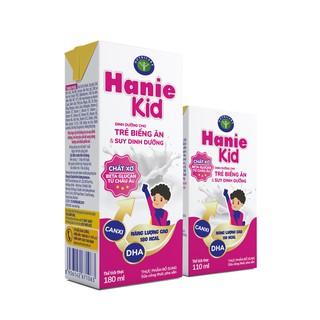 Thùng sữa bột pha sẵn Nutricare Hanie Kid - dinh dưỡng cho trẻ biếng ăn suy dinh dưỡng trên 1 tuổi (110ml x 48 hộp)