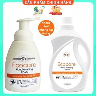 Nước rửa tay ECOCARE cam hữu cơ, nước rửa tay diệt khuẩn siêu nhanh dạng bọt thumbnail