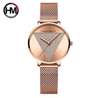 Đồng hồ nữ siêu mỏng Hannah Martin chính hãng - model HM-1332 dây thép mặt nhỏ - bảo