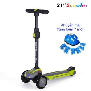 Xe trượt scooter 21st có giảm xóc, 3 bánh phát sáng cao cấp cho bé ( Tặng kèm 7 món bảo vệ cho bé ) - Home and Garden thumbnail