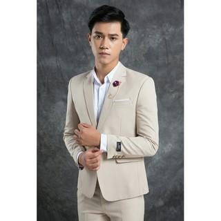 Áo vest màu kem