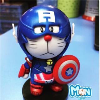 Mô hình nhựa pvc Doraemon Avenger Captain America