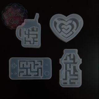 Khuôn silicone làm đồ chơi mê cung bằng resin