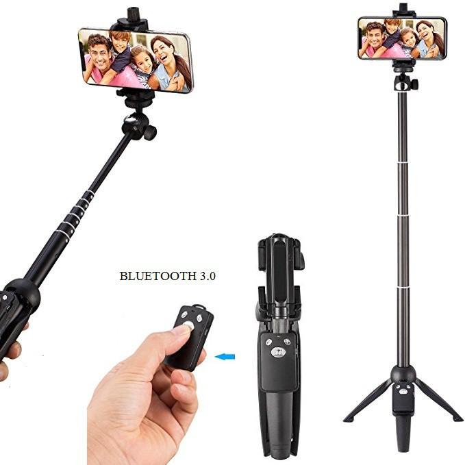 Chân máy ảnh Tripod YunTeng 9928 kiêm gậy chụp hình tự sướng 3 trong 1 kèm tay Remote Bluetooth 3.0