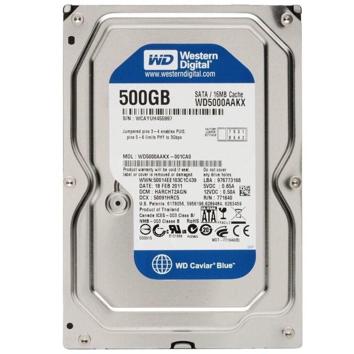 Ổ cứng HDD WD Blue 500GB Giá chỉ 260.000₫