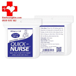 Gòn y tế Quick Nurse 10gram thumbnail