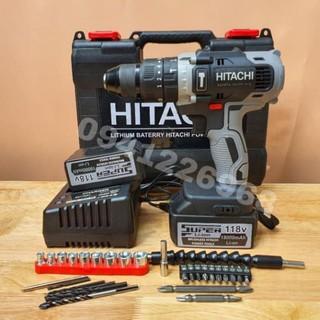 Máy Khoan Pin Hitachi 118V Motor 775 bản Super VIP Lõi đồng