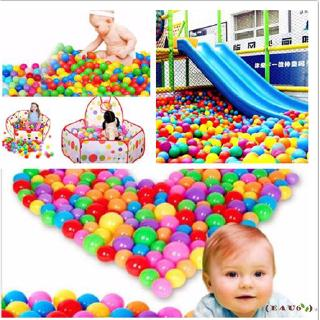 Ÿμ-New Practical multicolor marine ball Quality Secure Baby Kid Pit Toy Swim Fun Colorful Soft Plastic Ocean Ball
