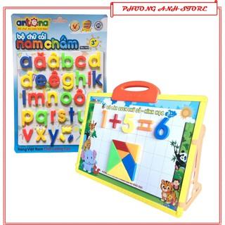 Đồ chơi thông minh cho bé trai,gái BẢNG NAM CHÂM 5 IN 1 HÀNG VN chữ cái tiếng việt,anh,chữ số,bảng vẽ giáo dục trẻ em thumbnail
