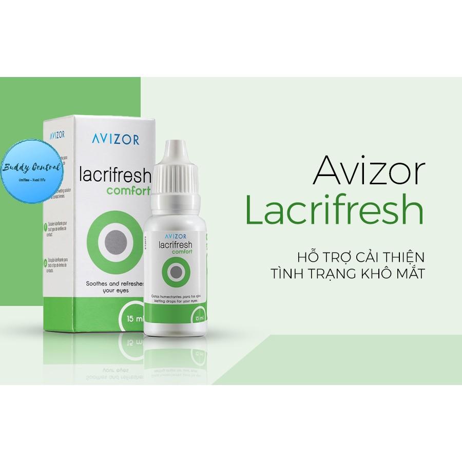 (Mua 6 tặng 1 GP 60ml, 10 tặng 1) Nước nhỏ mắt Avizor Lacrifresh Comfort 15ml