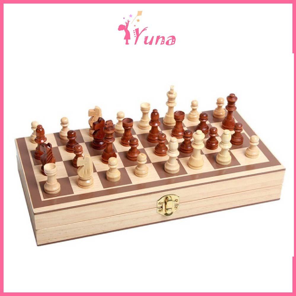 Bàn cờ vua bằng gỗ sang trọng gọn nhẹ 29x28cm – Đồ chơi thông minh cho bé
