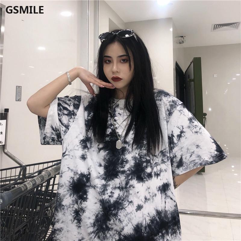 Áo thun ngắn tay kiểu dáng đơn giản phong cách Harajuku