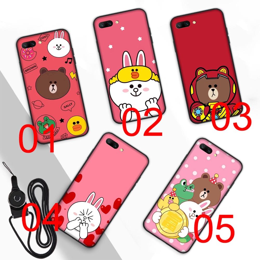 Line Friends Soft Case Huawei Mate 20 10 Lite Y9 Y6 prime Pro