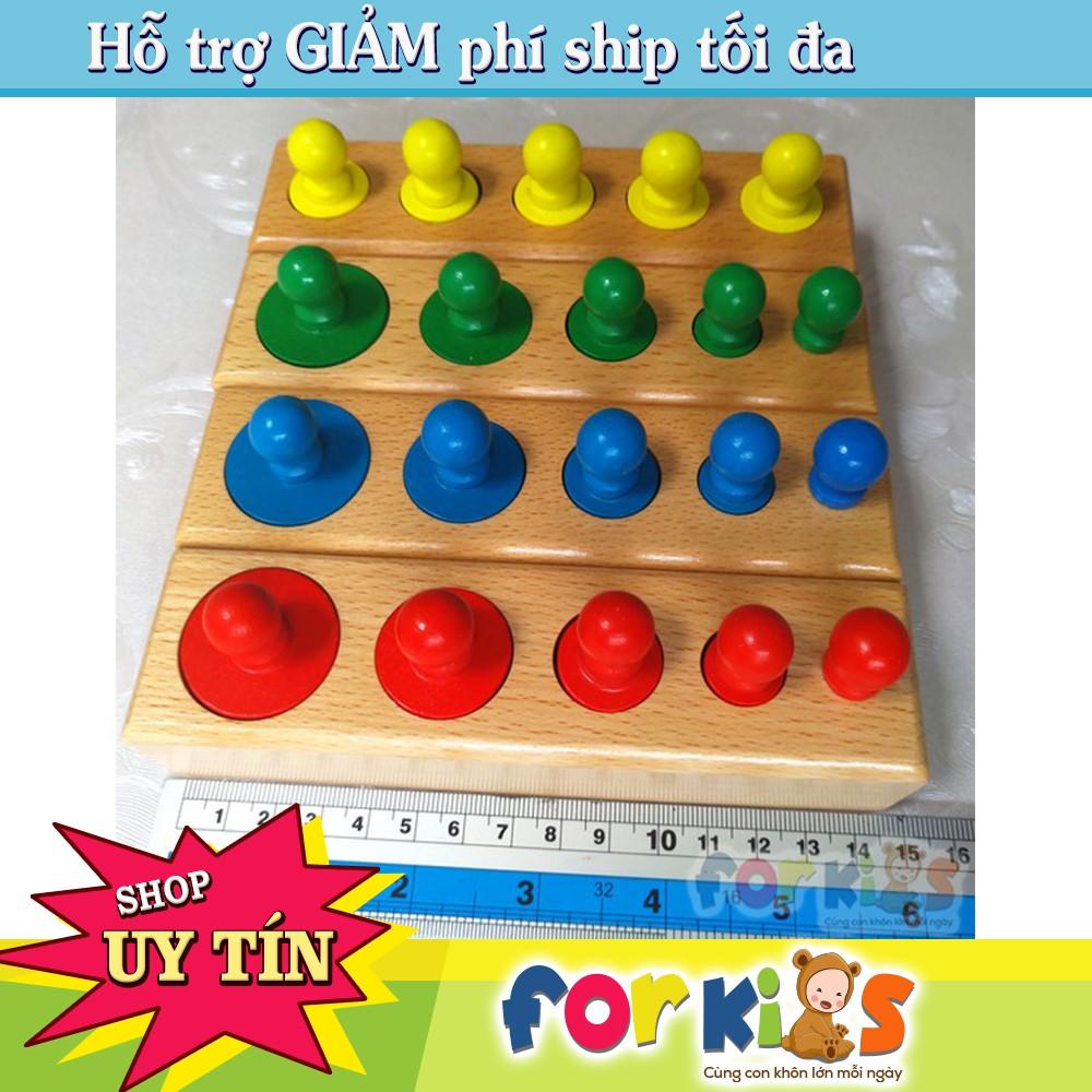 Giáo Cụ Toán Học Montessori có núm có màu