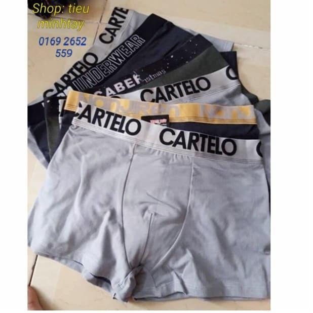 Bộ 10 quần lót đùi nam (sịp nam đùi ) ngẫu nhiên kiểu lưng cạp 125 .