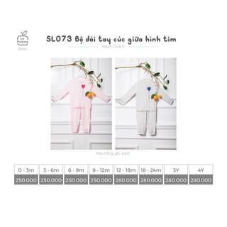 [Lapomme] SL073 Bộ dài tay cúc giữa hình tim