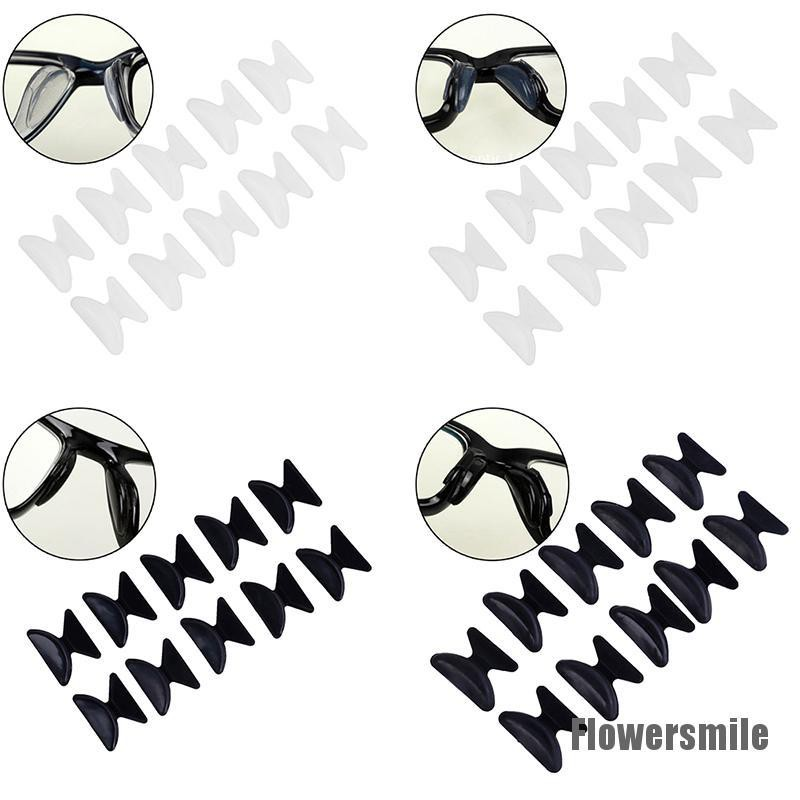 [Flowersmile] 5Pairs Glasses Eyeglass Sunglass Spectacles Anti-Slip Silicone Stick On Nose Pad