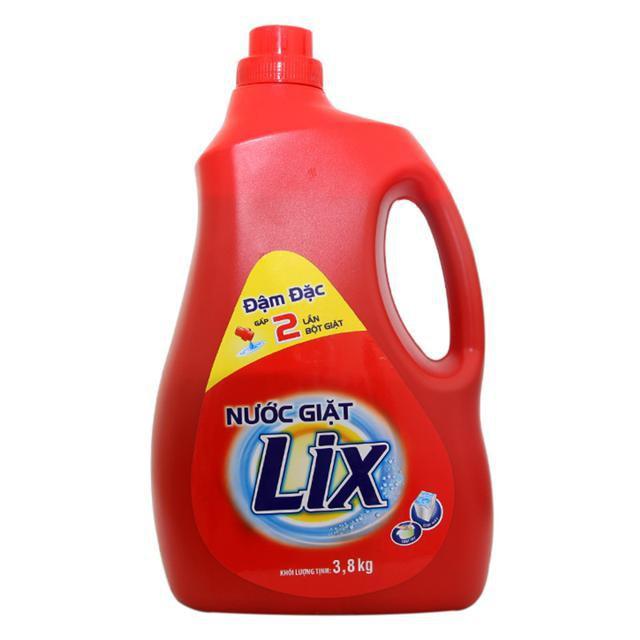 Nước giặt Lix 3,8kg dùng cả giặt tay và giặt máy