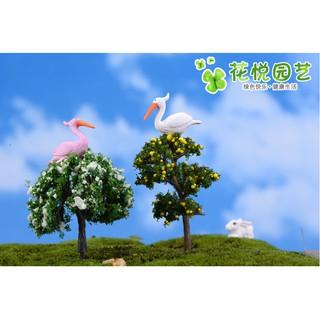 Combo đôi hồng hạc hai màu trắng và hồng chuyên trang trí tiểu cảnh, bonsai - hình 3