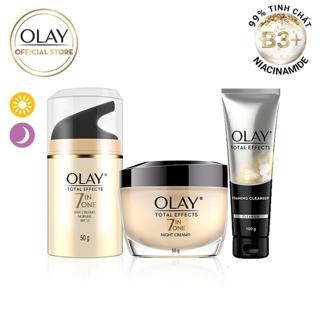 Bộ 3 kem dưỡng Olay Total Effect ngày & đêm 50G hộp và Sửa rửa mặt 100G thumbnail