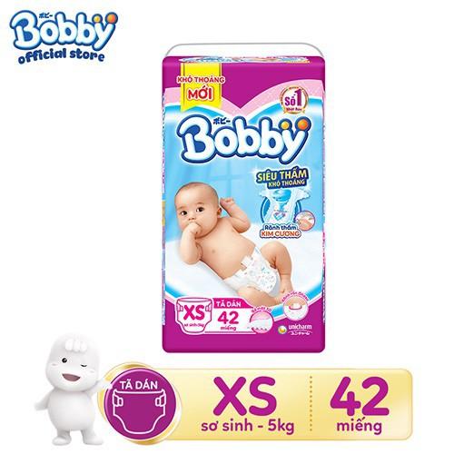Tã - bỉm dán Bobby sơ sinh XS42