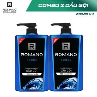Hình ảnh [Mã COSWIP -8% đơn 250K] Combo 2 Dầu gội Romano hương nước hoa 650g x 2-3