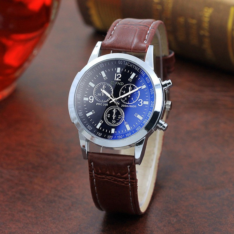 Đồng hồ nam dây da đeo tay cao cấp CFHD DH101