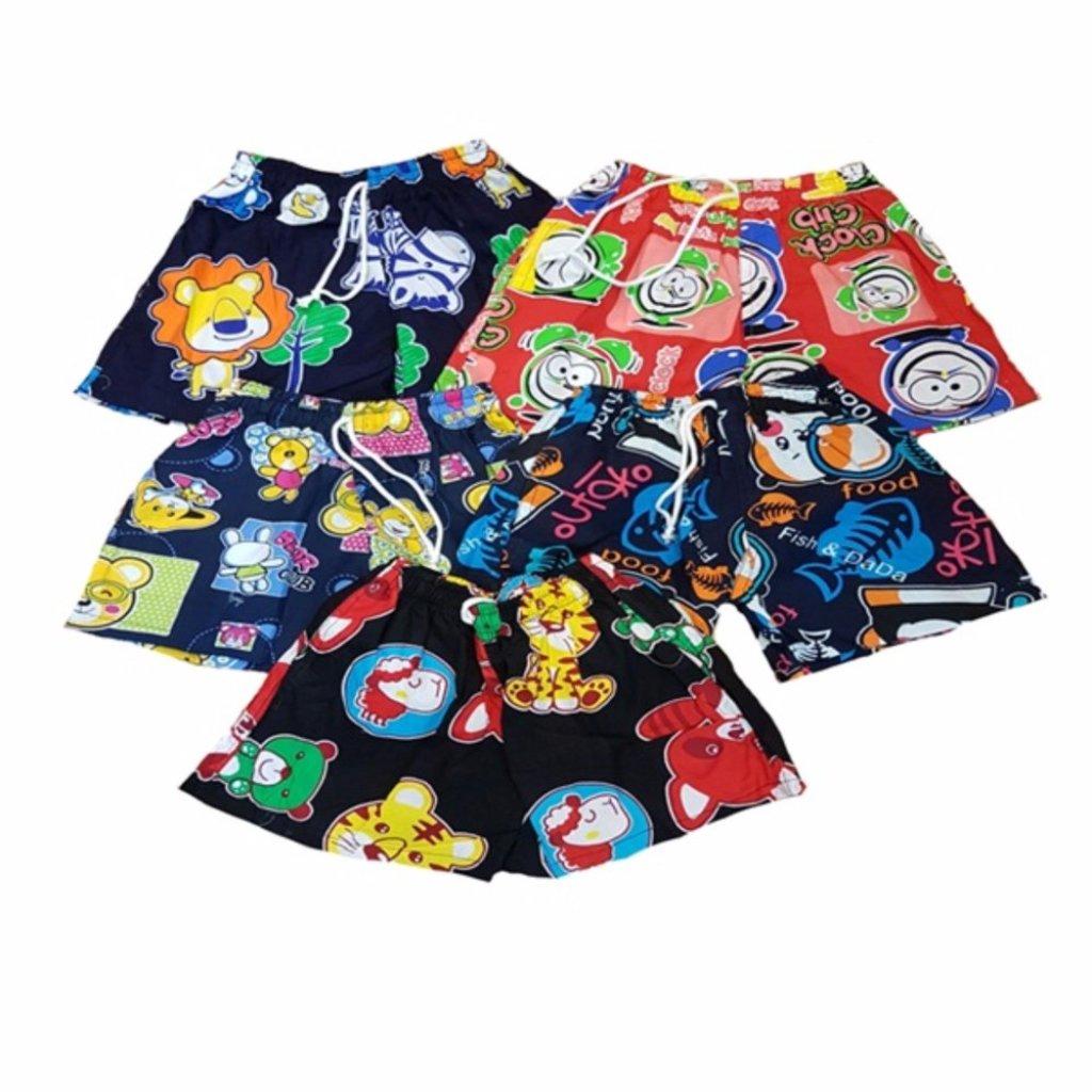 เสื้อผ้าเด็ก Shorts Printing multi col size 3-4 yrs 5 pcsackสื้อผ้าเด็ก Shorts Printing multi col size 3-4 yrs 5 pcsack