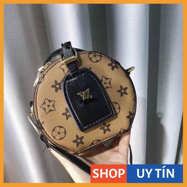 Túi tròn họa tiết túi hộp tròn mini đeo chéo cầm tay hàng đẹp TRONLV02 + hình thật