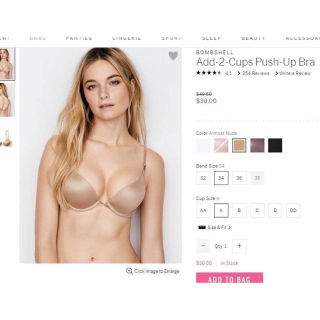 Hang order- áo lót Bra push 2 cup Victoria Secret Mỹ (có bill check)