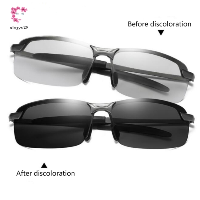 Men Polarized Driving Change Color Day Night Vision Driving Sunglasses