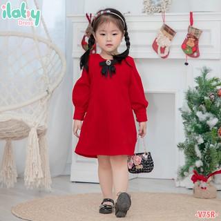 Váy cho bé gái ILABY nhung dài tay [V75]