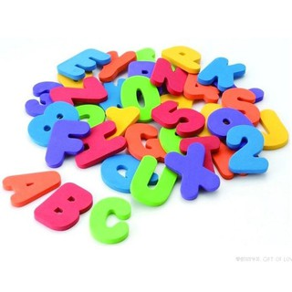 36pcs Educational Floating Bath Letters & Numbers stick on Bathroom Toy
