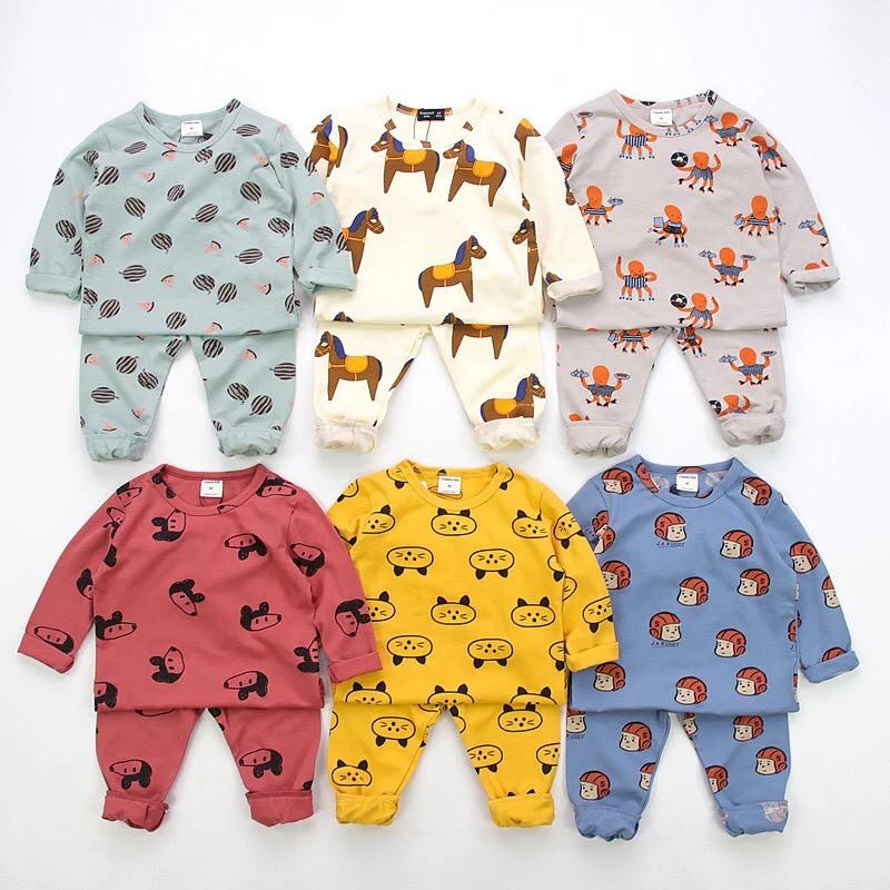 Bộ quần áo dài tay hình thú QATE294 cho bé sơ sinh đến 18kg