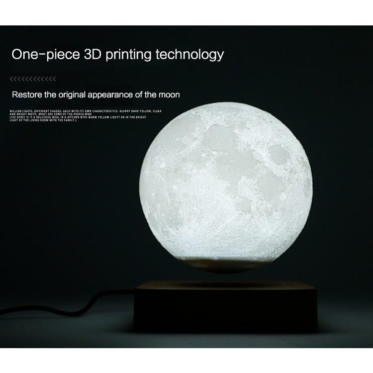 Đèn ngủ mặt trăng lơ lửng LED cảm ứng in 3D cao cấp - Quả Cầu Mặt Trăng Bay Magnetic Levitation 3D Printing Moon Light