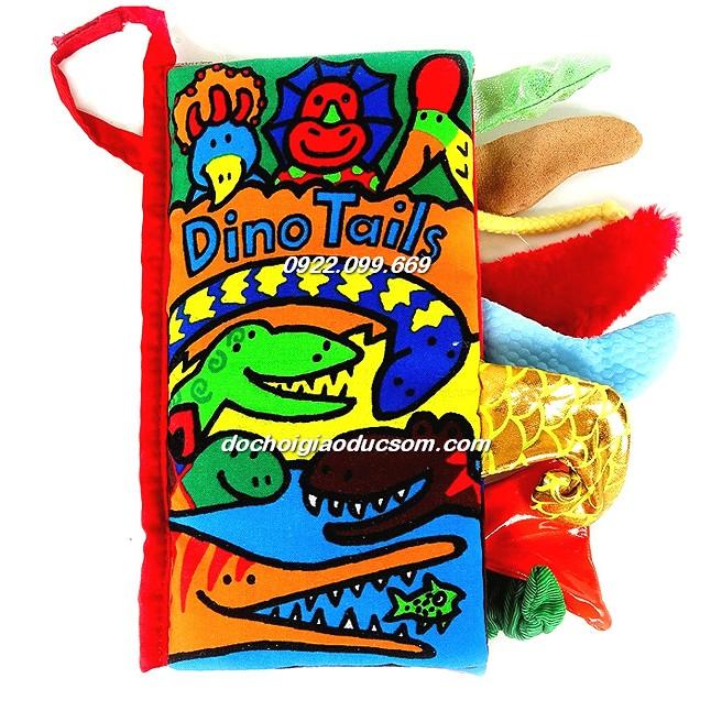 Sách vải Dino tail - Phát triển cảm quan